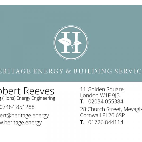 Heritage Business Cards